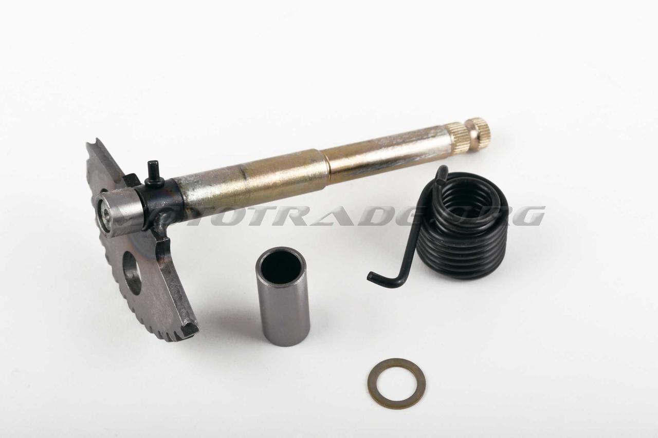 Сектор заводной (полумесяц)   4T GY6 125/150   (L-168mm)   (+пружина, втулка)   KICK, компл.