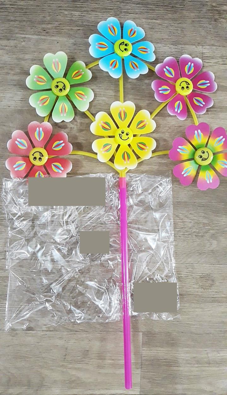 Вертушка детская цветочки
