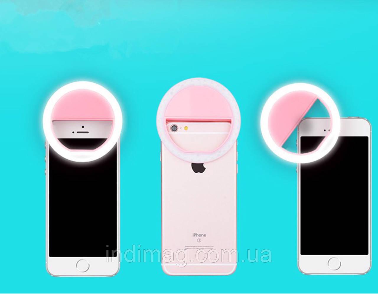 Светодиодное кольцо селфи вспышка для телефона.
