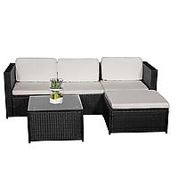 Комплект садовой мебели плетеной из ротанга BERTOK Черный цвет