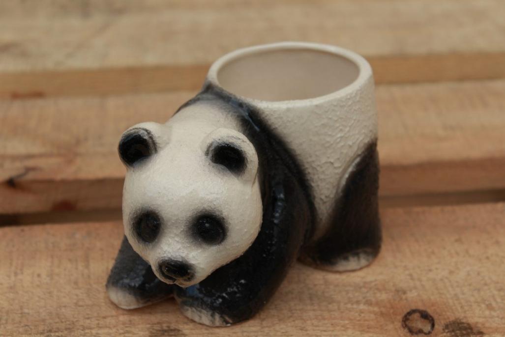 """Кашпо для цветов """"панда"""" маленькая"""