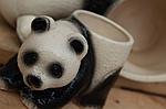 """Кашпо для цветов """"панда"""" маленькая , фото 3"""