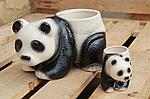 """Кашпо для цветов """"панда"""" маленькая , фото 4"""