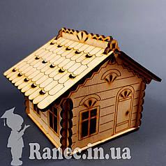 Деревянный домик шкатулка №2