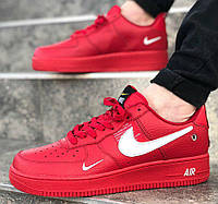 the best attitude bcb26 dfbb3 Nike Air Force 1  07 Lv8 Utility Red   мужские кроссовки  кожаные  красные