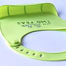 Детский слюнявчик нагрудник силиконовый с карманом - зеленый, фото 3