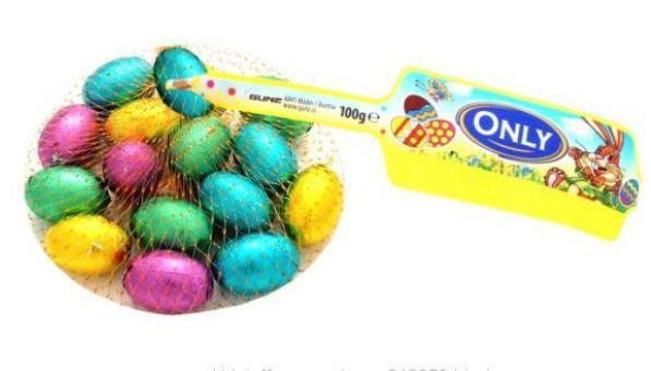 Конфеты шоколадные Яйца цветные (молочный шоколад) Onli 100г. Австрия