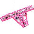 Набор Женского Нижнего Белья в стиле Victoria's Secret Pink Трусики Стринги 3 шт., фото 7