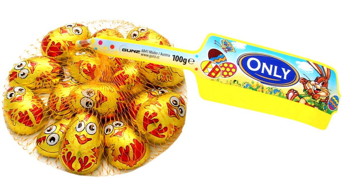 """Молочный шоколад Only """"Цыплята"""" 100 гр, сетка"""
