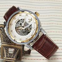 Мужские механические часы скелетон , фото 1
