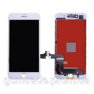 Дисплей iPhone 8, белый, с рамкой, с сенсорным экраном, Original PRC