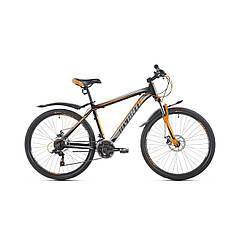 """Велосипед гірський підлітковий Avanti Sprinter 2019р  26""""д 13',15',17'-рама ч.оранжевий гарантія 12 місяців"""
