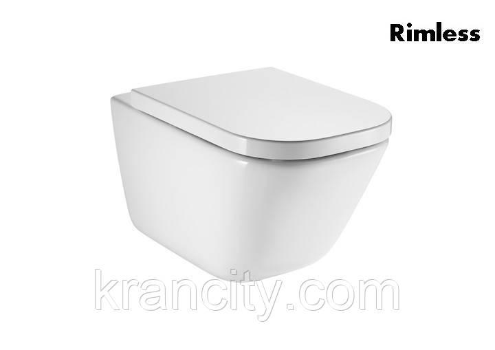 Унитаз подвесной Roca GAP сиденье для унитаза soft close, быстросъемное