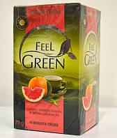 Чай зеленый с грейпфрутовым ароматом Feel Green 40 пакетиков
