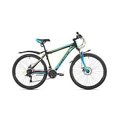 Велосипед гірський підлітковий Avanti Sprinter 2019р  26 дюйма 13',15',17'-рама ч.синій гарантія 12 місяців