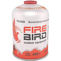 Резьбовой газовый баллон 450г FireBird