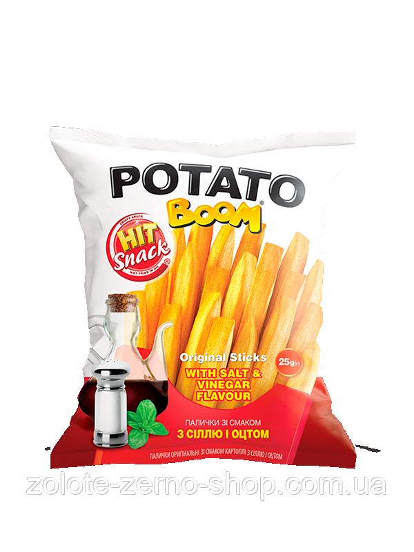 Палички кукурудзяні зі смаком картоплі з сіллю та оцтом 25 г