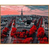 """Картина по номерам, картина-раскраска """"Алые краски Парижа"""" 40Х50см NB833"""