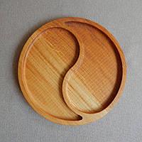 Деревянная тарелка. Декоративная посуда. Менажная тарелка. Посуда из дерева.