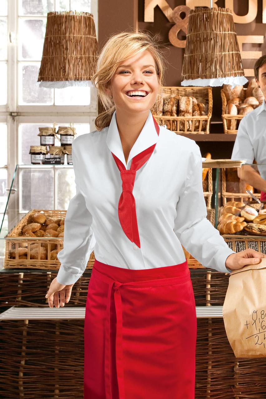 Блуза официанта женская TEXSTYLE с отложным воротником