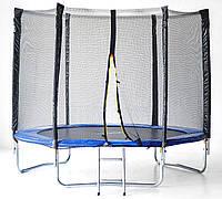 Батут SkyJump 8 фт., 252 см.з защитной сеткой и лесенкой