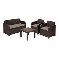 Комплект мебели Keter Curver GEORGIA 17199879 (2 кресла, диван, стол)