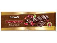 TERRAVITA Шоколад  темный с кусочками вишни и клюквы 225 г