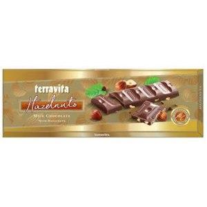 Шоколад молочный Terravita с лесным орехом 225 г Польша