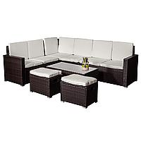 Комплект садовой мебели плетеной из ротанга TAVAS коричневий
