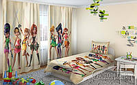 """Детские ФотоШторы """"Феи Диснеи - пираты"""" 2,5м*2,6м (2 полотна по 1,30м), тесьма"""