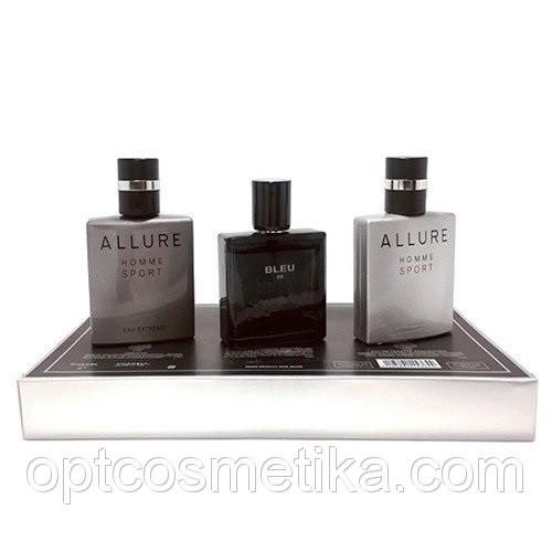 Мужской набор мини-парфюмов CHANEL Eau de Toilette Pour Homme 3 в 1