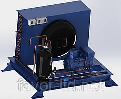 Компрессорно-конденсаторный низкотемпературный агрегат LВ4/ A1-7Y