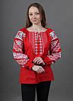 Праздничная вышитая блуза женская с вышивкой крестиком, фото 3