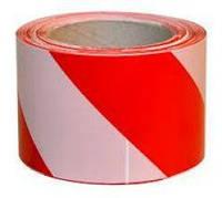 Лента предупредительная бело-красная 72ммх100м (59005)