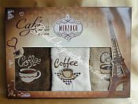 """Комплект полотенец Merzuka  """"Cofee au lait"""" - махровые - хлопок 3шт.: 30х50 Турция"""