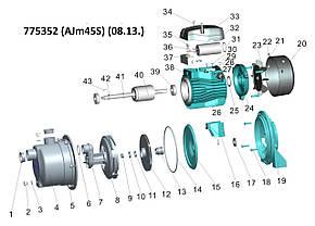 Насос відцентровий самовсмоктуючий 0.45 кВт Hmax 38м Qmax 40л/хв (нерж) LEO 3.0 (775352), фото 2