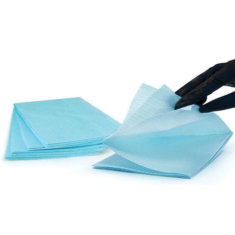 Салфетки трехслойные текстурированные 450 х 330 мм (голубые)