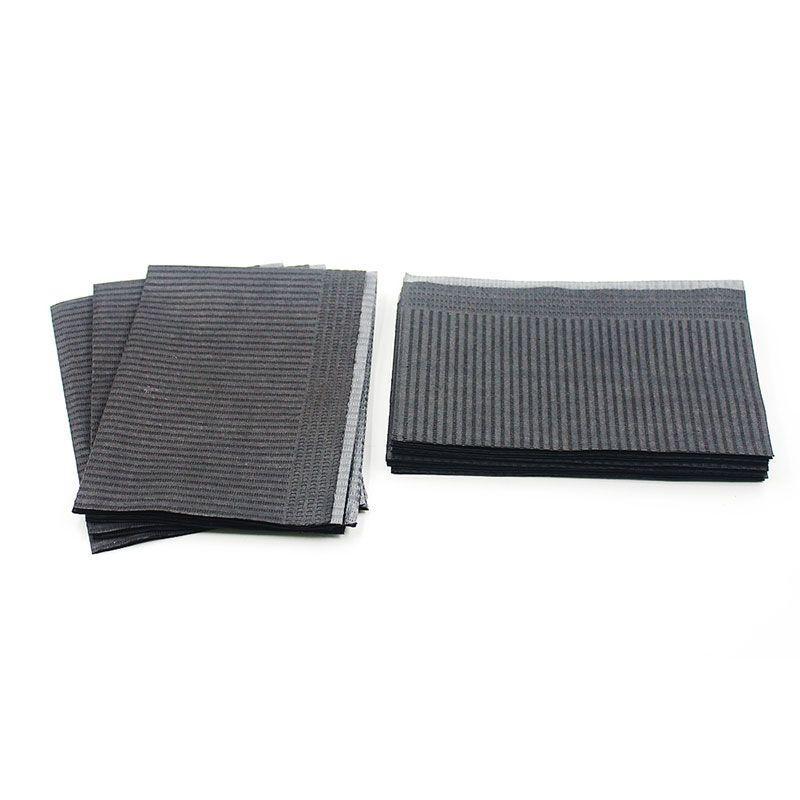 Салфетки трехслойные текстурированные 450 х 330 мм (черные)