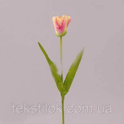 Тюльпан кремово-розовый 50см Цветы искусственные