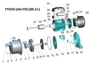 Насос центробежный самовсасывающий 0.75кВт Hmax 46м Qmax 55л/мин (нерж) LEO 3.0 (775354), фото 2