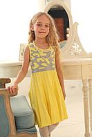 Платье желто-серое  в садик на девочку4122
