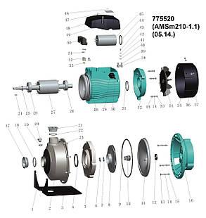Насос центробежный 1.1кВт Hmax 19.7м Qmax 300л/мин (нерж) LEO 3.0 (775520), фото 2