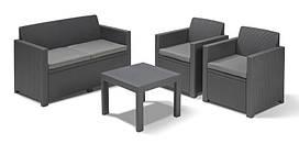 Комплект мебели Keter Curver ALABAMA 17199240 (2 кресла, диван, стол)