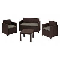 """Комплект мебели Keter Curver """"ALABAMA"""" 17199240 (2 кресла, диван, стол)"""