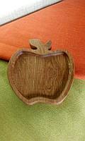 """Детская тарелка из дерева """"Райское яблочко"""". Детская посуда. Детские тарелки. Декоративные тарелки."""