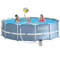 Каркасный бассейн Intex 28712 - 5, 366 x 76 см (насос-фильтр 3 785 л/ч, подстилка, тент), фото 1