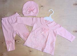 Нарядный костюм для новорожденных, на девочек 3-6 мес
