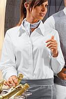 Блуза официанта TEXSTYLE женская с отложным воротником длинный рукав