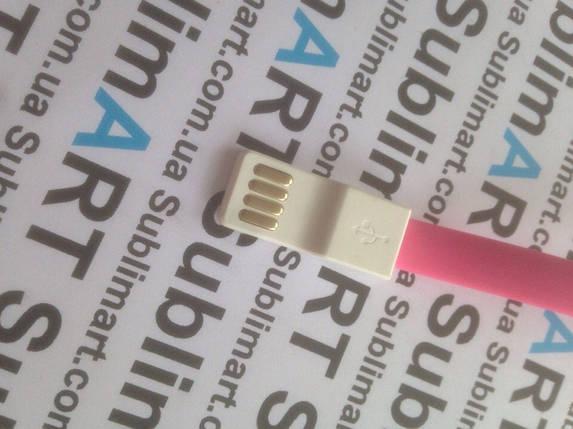 Usb кабель 20 см для iPhone, iPod, iPad 30 pin (розовый), фото 2