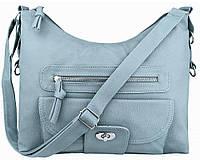b1c40e824ba5 Модная голубая женская сумка на плечо на длинном ремешке пр. Польша 24212 NY